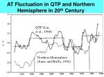 at fluctuation in qtp and northern hemisphere in 20 th century