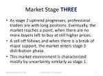 market stage three