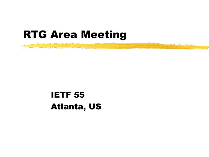rtg area meeting n.