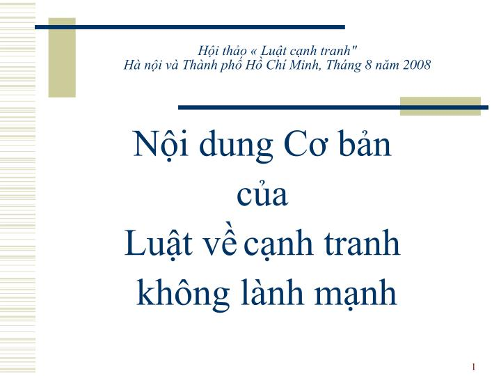 h i th o lu t c nh tranh h n i v th nh ph h ch minh th ng 8 n m 2008 n.