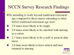 nccn survey research findings