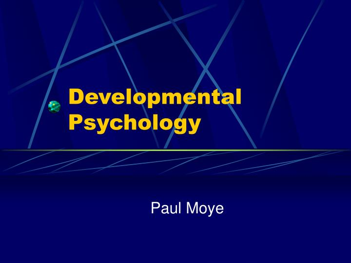 developmental psychology n.