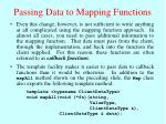 passing data to mapping functions
