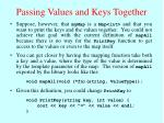passing values and keys together