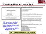 transition from icd to the aoa1