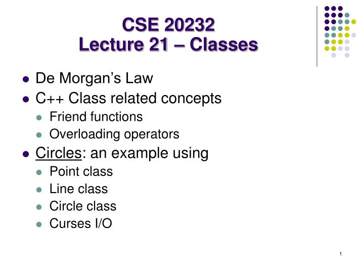 cse 20232 lecture 21 classes n.