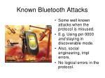known bluetooth attacks