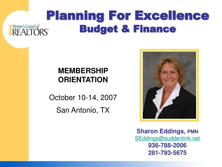 planning for excellence budget finance n.