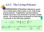 4 3 3 the living polymer2