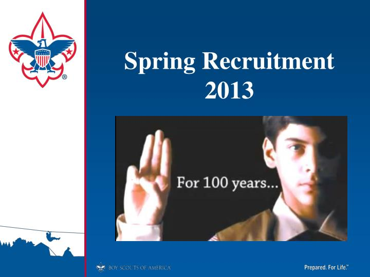 spring recruitment 2013 n.