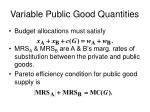 variable public good quantities3