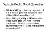 variable public good quantities8