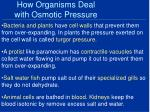 how organisms deal with osmotic pressure