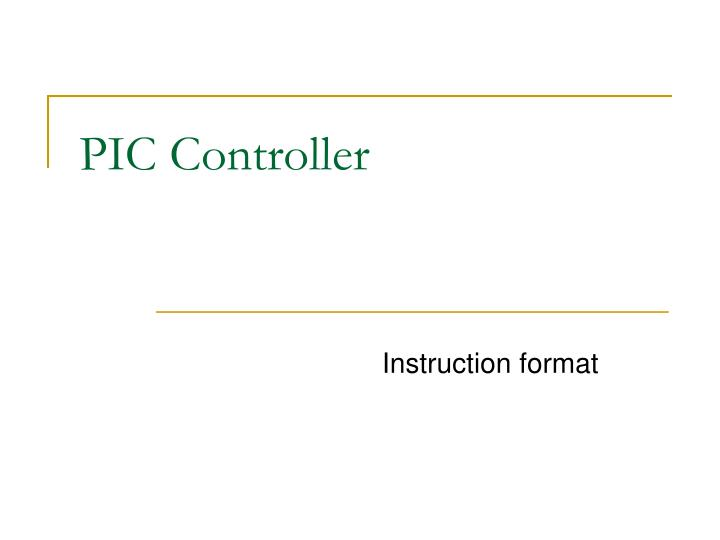 pic controller n.