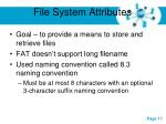 file system attributes