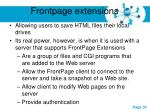 frontpage extensions
