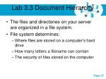 lab 3 3 document hierarchy