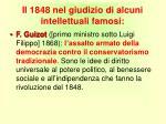 il 1848 nel giudizio di alcuni intellettuali famosi1