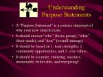 understanding purpose statements