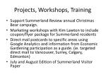 projects workshops training