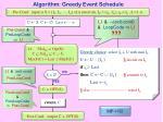 algorithm greedy event schedule