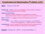 combinatorial optimization problem cop