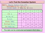 let s test the canadian system