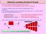 obstacle avoiding shortest a b path