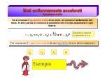 moti uniformemente accelerati equazione oraria1