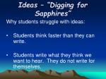 ideas digging for sapphires