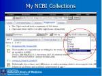 my ncbi collections