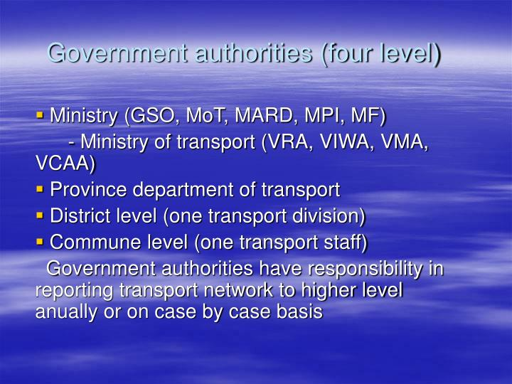 government authorities four level n.