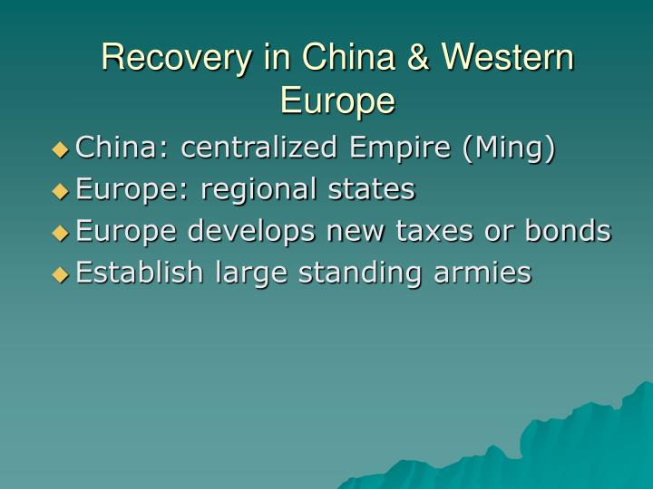Recovery in China & Western Europe