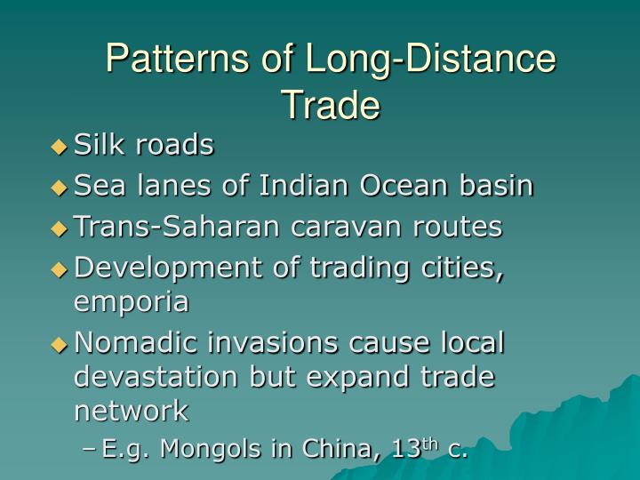 Patterns of Long-Distance Trade