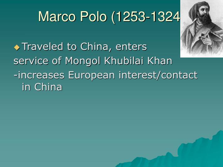 Marco Polo (1253-1324)