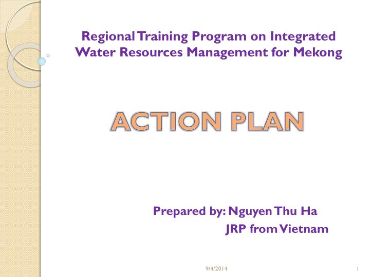 regional training program on integrated water resources management for mekong n.