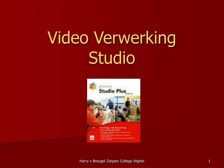 video verwerking studio n.