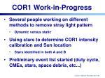 cor1 work in progress