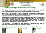 1 the beginnings altruism and charity