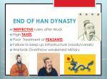 end of han dynasty