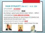 han dynasty 206 b c a d 220