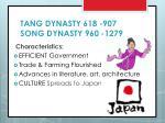 tang dynasty 618 907 song dynasty 960 1279