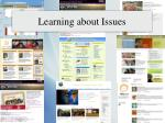 learning about issues