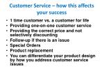 customer service how this affects your success