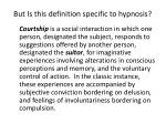 but is this definition specific to hypnosis