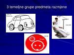 3 temeljne grupe predmeta razmjene