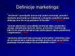 definicije marketinga
