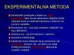 eksperimentalna metoda