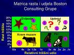 matrica rasta i udjela boston consulting grupe