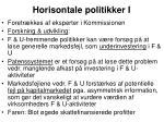 horisontale politikker i
